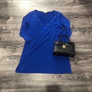 Dresses & Skirts - Blue dress wit) gold detail